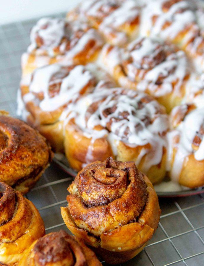 Sticky cinnamonrolls (kaneelbroodjes)