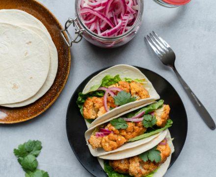 Vegetarische bloemkool 'taco's'