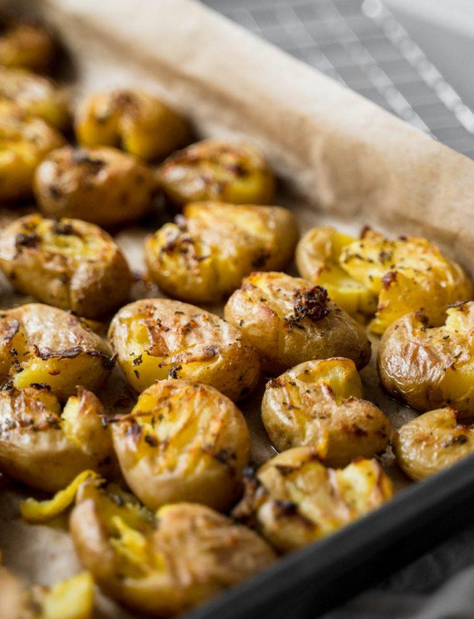Knoflook rozemarijn aardappels