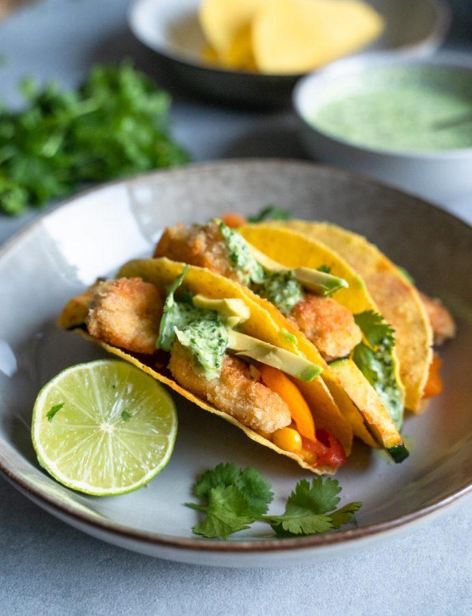 Taco's met krokante kip