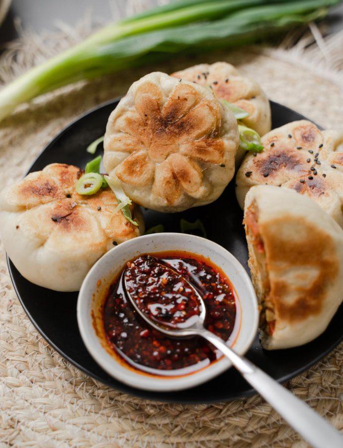 Krokante veggie bao buns