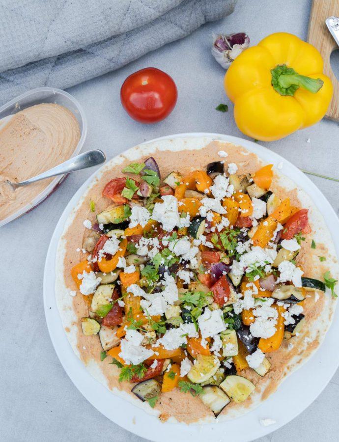 Wraps met gegrilde groente en feta